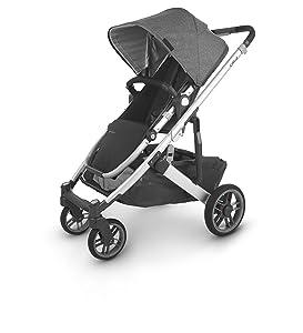 UPPAbaby CRUZ V2 Stroller - JORDAN (charcoal/silver/black leather)