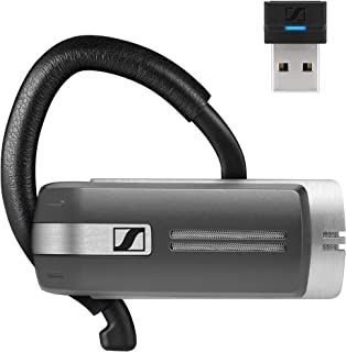 Sennheiser Presence Grey UC (508342) - Dual Connectivity, Single-Sided Bluetooth Headset for Mobile Device & Softphone/PC Connection, with Carrying Case and USB Dongle (Black)