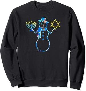 funny Jewish gift Snowman Menorah Star of David chrismukkah Sweatshirt