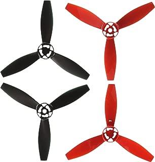 Parrot Bebop 2 Drone Propellers, Red ,2 Red & 2 Black