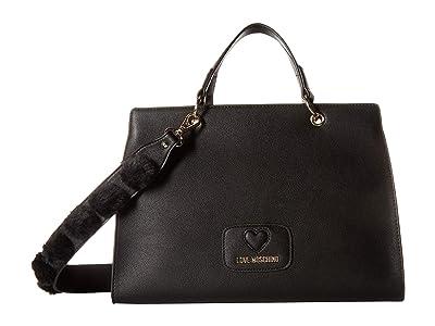 LOVE Moschino Pom Pom Handbag (Black) Handbags