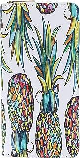 CTM Women's Pineapple Print Zip-Around Wallet