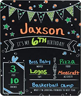 Best 1st birthday chalkboard boy Reviews