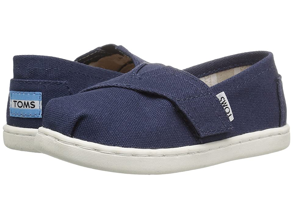 TOMS Kids Alpargata 2.0 (Infant/Toddler/Little Kid) (Navy Canvas) Kid
