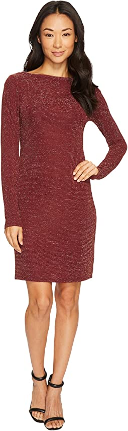 MICHAEL Michael Kors - Metal Dot Long Sleeve Boat Neck Dress