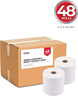 """(48 Rolls, 21,600 Labels) 4 x 6"""" Direct Thermal Address & Shipping Labels (4 x 6"""") Compatible for Zebra 2844 ZP-450 ZP-500..."""