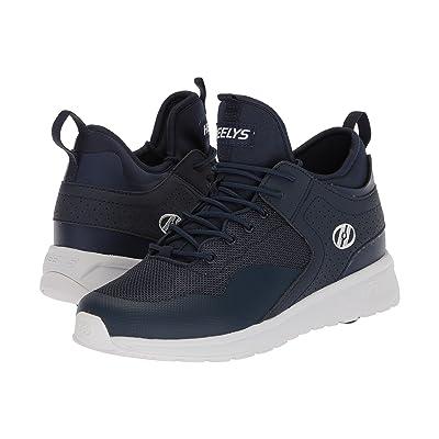 Heelys Piper (Little Kid/Big Kid/Adult) (Navy/White) Boys Shoes