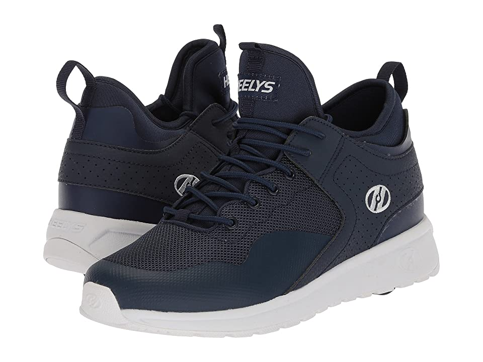 Heelys Piper (Little Kid/Big Kid/Adult) (Navy/White) Boys Shoes
