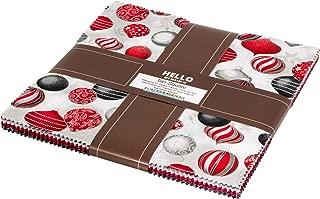 Winter's Grandeur 7 Scarlet Ten Square 42 10-inch Squares Layer Cake Robert Kaufman TEN-681-42