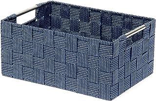Panier bleu Toronto, 30 x 20 x H.12 cm, RAN8562