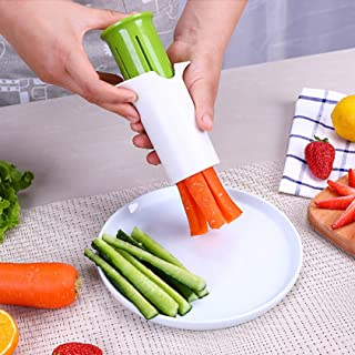 Concombre Cutter,Concombre Portable Slicer,Fruit Légumes Spirale Slicer Diviseur Carotte Slicer Fraise Splitter Coupe-légu...
