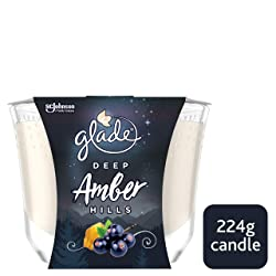 glade Large Candle Amber Hills Air Freshener 224 g, Inspired by Disney's Frozen 2