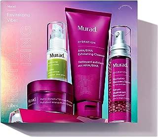 Murad Revitalizing Vibes   AHA/BHA Exfoliating Cleanser, Serum, Moisturizer + Renewing Eye Cream   4-piece set