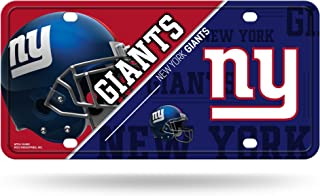 RICO INDUSTRIES NFL New York Giants Unisex New York Giants License Plate Metalnew York Giants License Plate Metal, Team Color, One Size