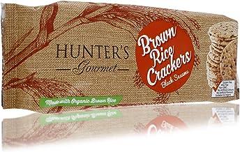 Hunter's Gourmet Black Sesame Brown Rice Crackers - 100 gm