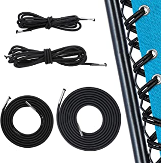 Pack of 4 Replacement Cords for Zero Gravity Chair 2 Long + 2 Short Universal Elastic Chair Repair Laces Bungee Ropes for ...