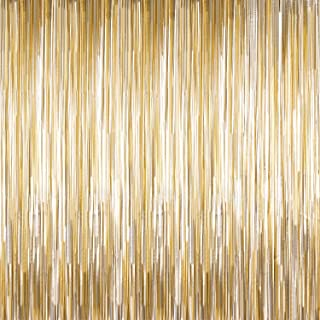 Sumind 4 Packs Photo Booth Backdrops Foil Curtains Metallic Tinsel Backdrop Curtains Door Fringe Curtains Wedding Birthday...