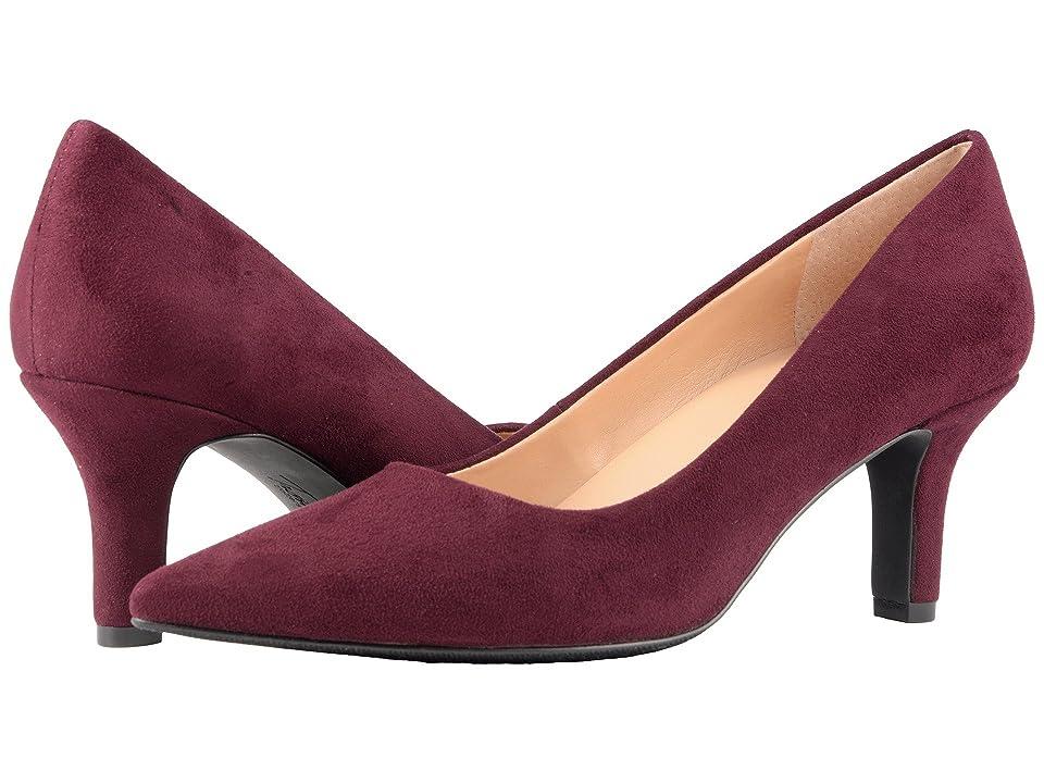 Trotters Noelle (Burgundy Micro Suede) High Heels