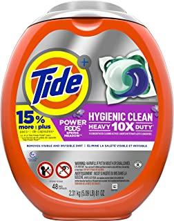 Tide POWER PODS, Laundry Detergent Liquid Pacs, Designed for Larger Loads, Spring Meadow, 48 Count