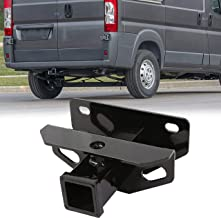 Class 3 Trailer Hitch & Cover Kit Fits 2003-2018 Dodge Ram 1500 & 2003-2013 Ram 2500 & 2003-2012 Ram 3500 OE Style 2 inch Rear Receiver Hitch Tow Towing Trailer Hitch Combo Kit With One Year Warranty