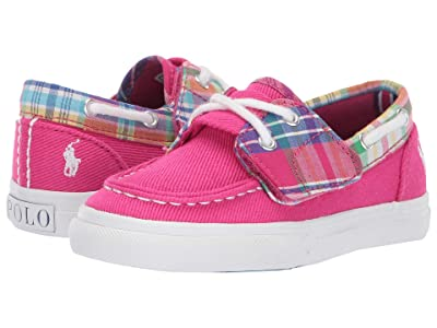 Polo Ralph Lauren Kids Bridgeport EZ (Toddler) (Sport Pink Heavy Twill/Multi Plaid/White Pony) Girl