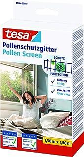 tesa Pollenhor - Transparant pollengaas voor allergieën – Voor naar binnen draaiende ramen - Snijdbaar en incl. zelfkleven...