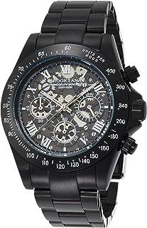 [ブルッキアーナ]BROOKIANA クロノグラフ オールブラックメタル×ホワイトインデックス ギミックフェイス BA2305-BWMBK メンズ 腕時計