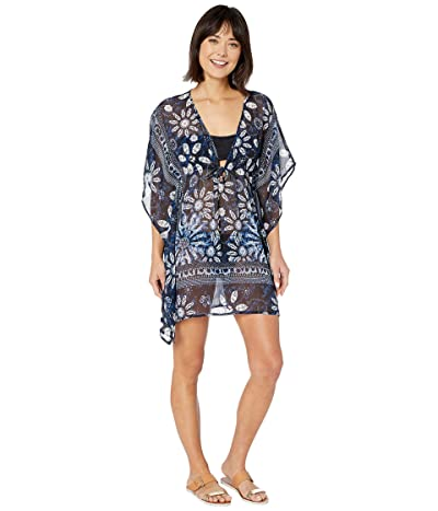 Bleu Rod Beattie Take A Dip Caftan Cover-Up (Navy/Multi) Women