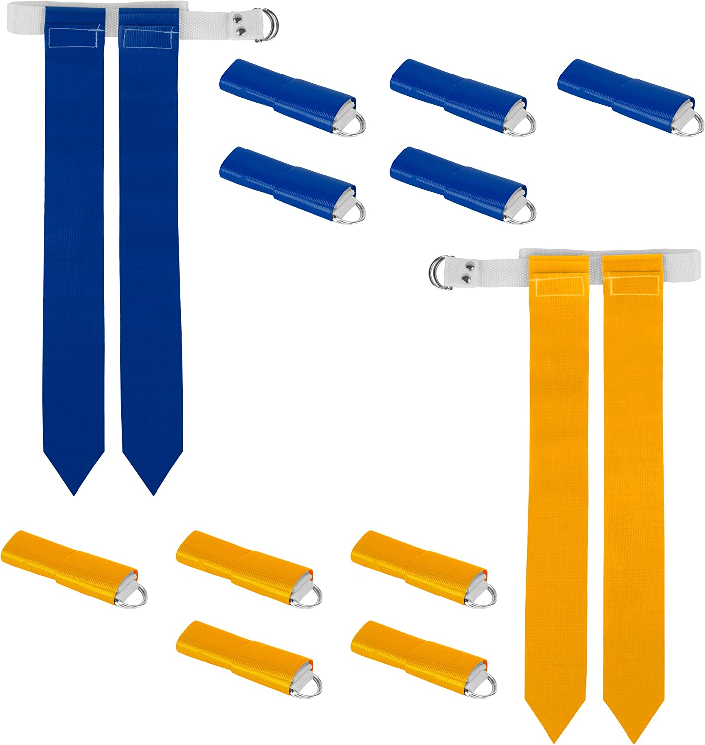 12-Pack Popularity Flag Football Team Set Max 89% OFF – Belts 24 with Includes 12