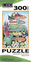 """LANG - 300 Piece Puzzle -""""Garden Sign"""", Artwork by Susan Winget - Linen Finish - 14.5 """" x 20.5"""" Completed"""