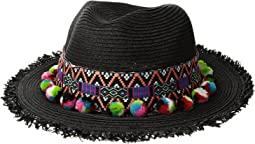 San Diego Hat Company - UBF1111 Fedora with Multicolor Pom