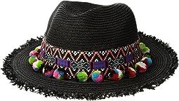 San Diego Hat Company UBF1111 Fedora with Multicolor Pom