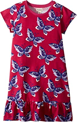Graceful Butterflies Flounce Hem Dress (Toddler/Little Kids/Big Kids)