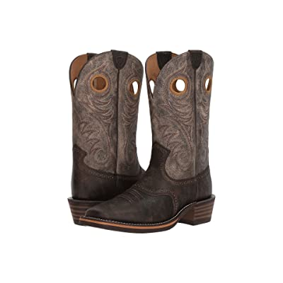 Ariat Heritage Roughstock Wide Square Toe (Brooklyn Brown/Ashes) Cowboy Boots