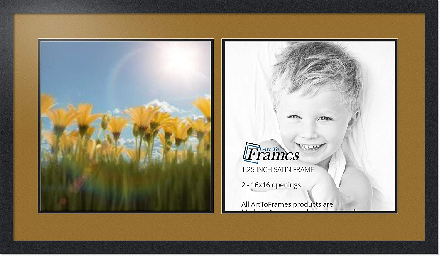 Chicago Mall ArtToFrames Super beauty product restock quality top Collage Photo Frame Double Openings with Mat 2-16x16