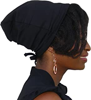 Satin Life Adjustable Drawstring Soft Slouchy Satin Lined Hat Cap Beanie