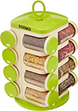 Amazon Brand - Solimo Revolving Spice Rack set (16 pieces)