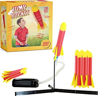 High Bounce AMAZING Jump Rocket Set, Soars Up-to 100 Feet And Includes 20 Refill Rockets