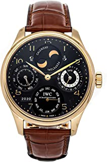 IWC Portuguese Mechanical (Automatic) Black Dial Mens Watch IW5021-03 (Pre-Owned)