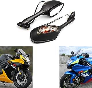 MZS Motorcycle Turn Signal Mirrors Rear View compatible Suzuki GSXR600 GSX-R600 2006-2017/ GSXR750 GSX-R750 2006-2017/ GSXR1000 GSX-R1000 2002-2017/ SV650 SV650S 2003-2008/ SV1000 SV1000S 2003-2007