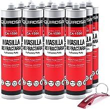 Brik-Cen CA-1500 cartridges, hoge temperatuur, 300 ml, grijs, inclusief sleutelhanger/flesopener (12 cartridges, 300 ml, g...