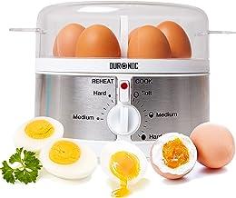 Duronic EB35 Cuiseur à œufs – de 1 à 7 œufs – Thermostat et minuteur pour obtenir œufs durs/mollets/à la coque avec foncti...