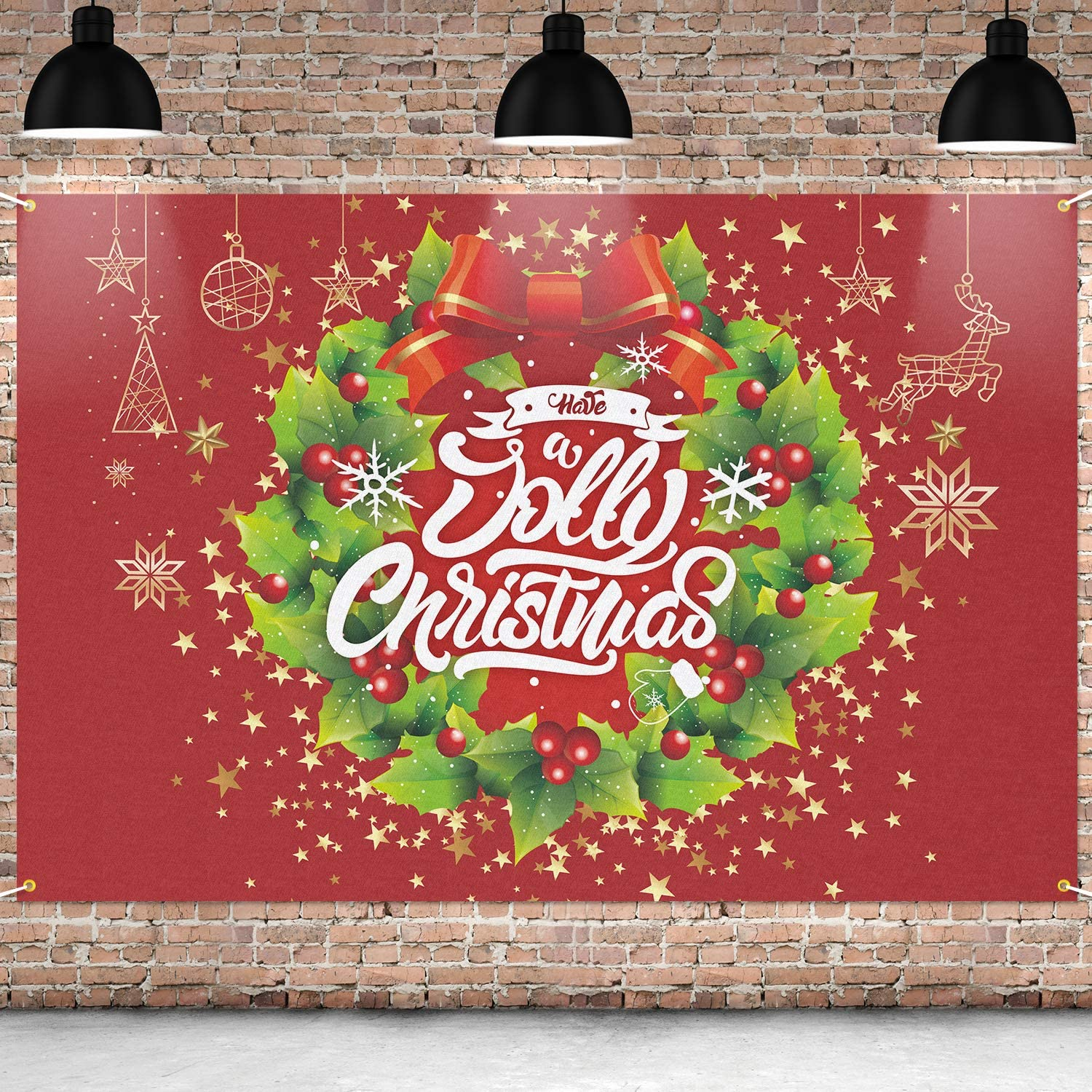Gorgeous PAKBOOM Have A Jolly Christmas Max 68% OFF Background- Banner Backdrop Xmas