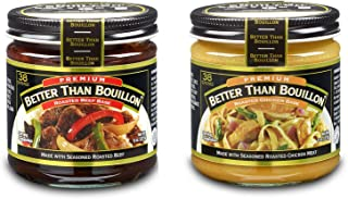 Better Than Bouillon Premium Roasted Chicken and Roasted Beef Base Bundle 8oz