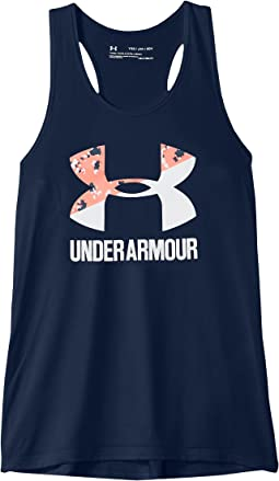 Under Armour Kids UA Big Logo Slash Tank Top (Big Kids)