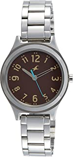 Fastrack Women's Brown Dial Stainless Steel Band Watch - 6152SM02