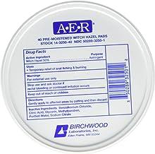 Birchwood Laboratories A-E-R Pre-Moistened Witch Hazel Pads, 80 Count