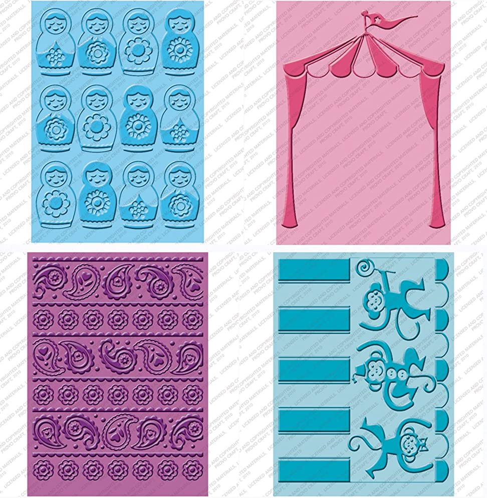 Cuttlebug Provo Craft Cricut Companion Embossing Folder Bundle, Paisley