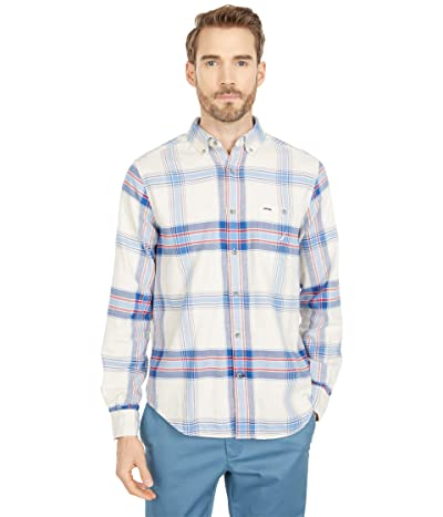 Nautica Classic-Fit Plaid Flannel Shirt (Oatmeal Heather) Men