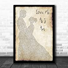 Love Me As I Am Man Lady Dancing Song Lyric Quote Music Poster Gift Present Art Print